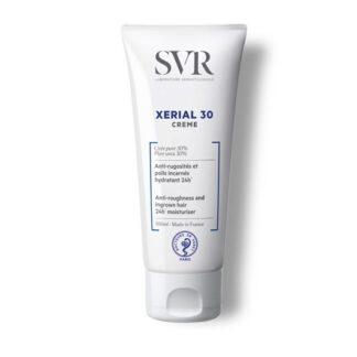 SVR Xérial 30 Creme 100 ml,com a finalidade de remoção das rugosidades e dos pêlos encravados. Além dissoalisa a pele e reduz o seu aspeto granuloso.