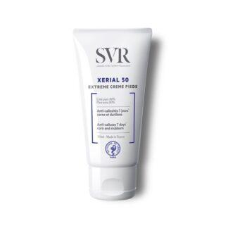 SVR Xérial 50 Extreme Creme Pés 50 ml,com a finalidade deremover as calosidades. Além dissoelimina o calo tal como uma pedra pomes sem efeito recidivante.