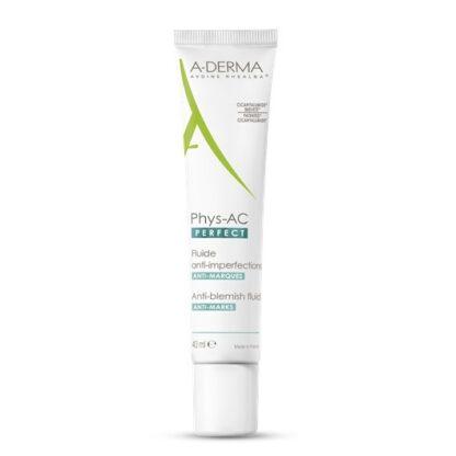 A-Derma Phys-AC Perfect Anti Imperfeições 40 ml,com a finalidade de redução do excesso de sebo e limitação da adesão de agentes externos.