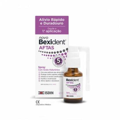 Bexident Aftas Spray 15 ml, alívio rápido e duradouro desde a 1ª aplicação. Aftas e úlceras bucais.