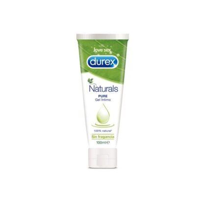 Durex Gel Lubrificante Natural 100 ml,comingredientes de origem 100% natural. Desenvolvido com a finalidade de tornar os teus momentos íntimos suaves e excitantes.