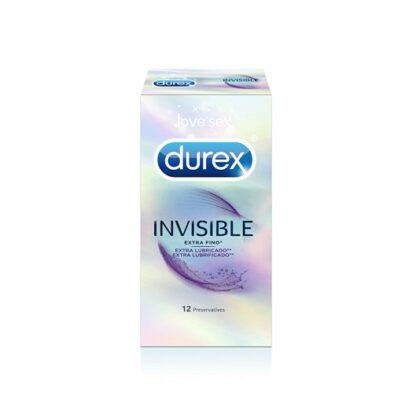 Durex Invisible Extra Lubrificado 12 Preservativos, sensibilidade extra, onde mais precisas. Ainda assim com lubrificante extra para uma experiência mais agradável.