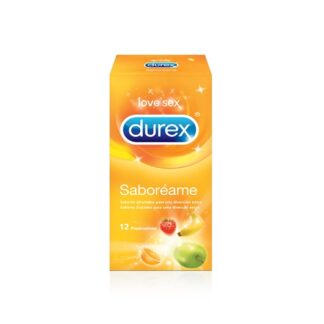 Durex Preservativos Saboréame 12 Unidades,têm quatro sabores de fruta que incluem banana, morango, laranja e maçã. Saboroso!