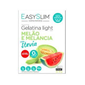 Easyslim Gelatina LightdeMelão e Melancia 2 Saquetas, gelatinas frescas, saborosas e disponíveis em vários sabores, EASYSLIM® Gelatinas Light com Stevia
