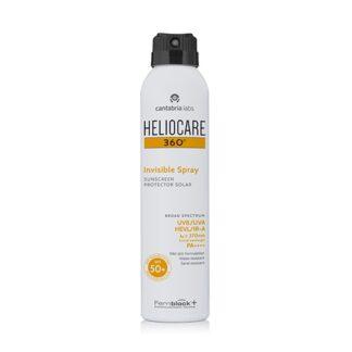 Heliocare 360º Invisible Spray SPF 50+ 200ml Spray fotoprotetor contínuo, invisível e refrescante de rápida absorção,