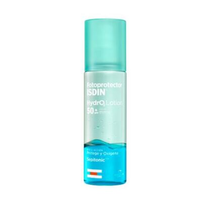 Isdin Fotoprotetor Hydralotion SPF 50+ 200 ml, oprimeiro foto protetor bifásico com a finalidade de oxigenar e proteger a sua pele.