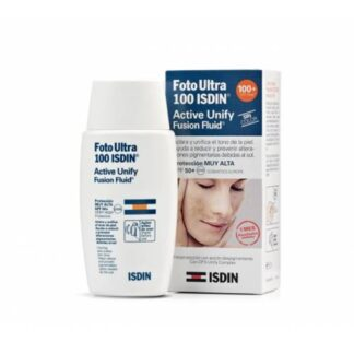 Isdin FotoUltra 100 Active Unify Sem Cor FPS 50+ 50ml - Pharma Scalabis