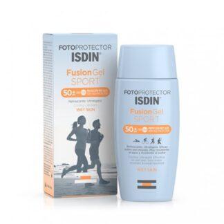 Isdin FotoProtetor Fusion Gel Sport FPS50+ 100 ml,tecnologia Fusion para o seu máximo rendimento. Com a finalidade de fotoproteção ideal para a prática de desporto ao ar livre. Ainda assim é indicadopara homens, zonas pilosas e couro cabeludo.