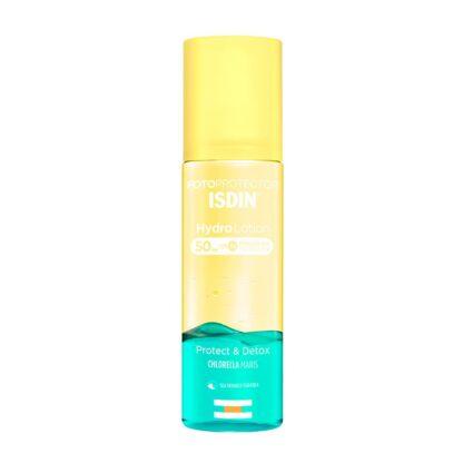 Isdin Fotoprotetor Hydralotion SPF 50+ 200 ml, fotoprotetor bifásico que protege e desintoxica a pele