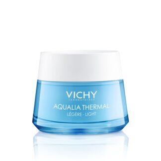 Vichy Aqualia Creme Ligeiro Reindratante Pote 50ml, 1ª gama da Vichy com uma tecnologia de hidratação dinâmica, que favorece a hidratação de todas as zonas do rosto.