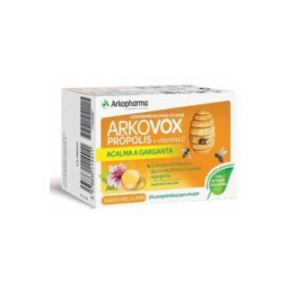 Arkovox Própolis e Vit C Sabor Mel e limão 24 Comprimidos