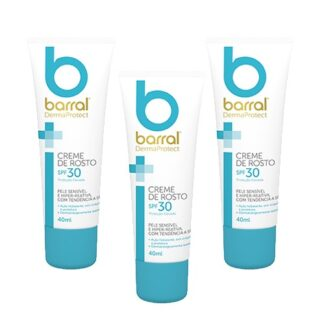 Barral Dermaprotect Pack3 Creme Rosto Spf 30 3x40ml