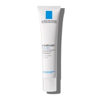 La Roche Posay Cicaplast Gel B5 40 ml, com a finalidade de suavizar, proteger e reparar pós-pontos de pele fragilizados, peeling pós-cosmético e pós-laser.