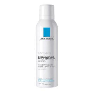 La Roche Posay Desodorizante Spray Fisiológico 150ml, garante certamente24 horas de eficácia anti-humidade e anti-odor. Além disso não contém sais de alumínio, sem álcool e sem parabenos.