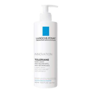 La Roche Posay Toleriane Caring Wash 400 ml,com a finalidade delimpar e desmaquilhar com suavidade e segurança. Certamente ideal para a pele sensível, normal a seca.
