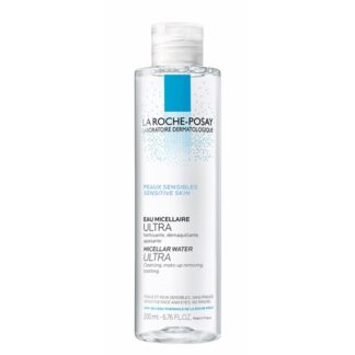 La Roche Posey Água Micelar Ultra Pele Sensível 200ml,com a finalidade de limpar a pele e remover a maquilhagem. Além disso permite um efeito apaziguador. De tal forma que é especialmente indicado para a pele sensível.