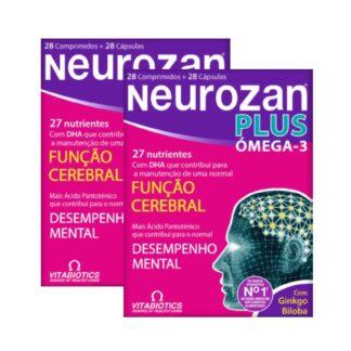 Neurozan Plus Pack 2 - 28 Cápsulas + 28 Comprimidos,oseu cérebro requer nutrientes essenciais que ajudam a assegurar a sua função e desempenho óptimo