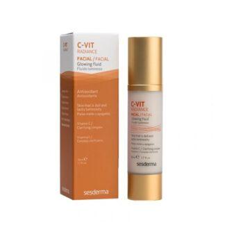 Sesderma C-VIT Radiance Fluido Luminoso 50ml,com a finalidade de tratamento e prevenção para peles maduras e cansadas. De tal forma que este cuidado permitirá que a pele encontre luminosidade e vitalidade.