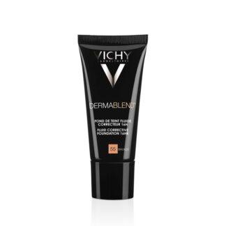 Vichy Dermablend Base Corretora Fluida 16H (55) 30ml cobertura perfeita durante 16 horas numa textura sensação pele nua, para todo o tipo de pele.