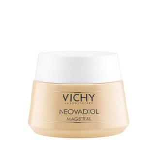 Vichy Neovadiol Magistral Dia 50ml Magistral Dia Pele Seca ideal para combater a perda de densidade, flacidez dos traços do rosto, ressequimento da pele.
