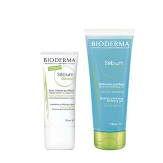 Bioderma Sebium Global 30 ml + Sebium Gel Moussante 200ml