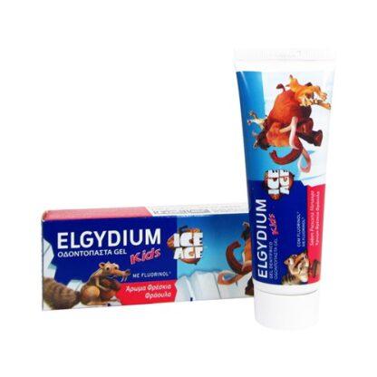 Elgydium Kids Dentífrico Idade do Gelo Sab Morango 50ml