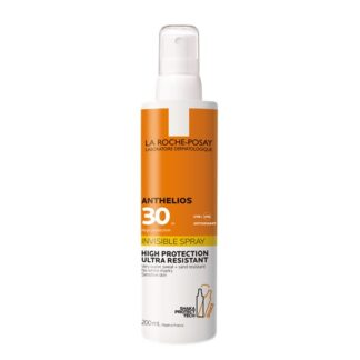 La Roche Posay Anthelios FPS30 Spray 200ml, com a finalidade de garantir umaproteção muito elevada para o rosto e corpo. Além disso este produto é testado sob controlo dermatológico.