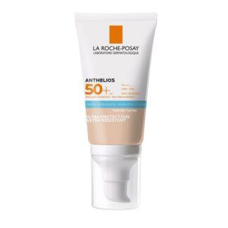 La Roche Posay Anthelios Ultra SPF50+ Creme C/Cor 50ml, com a finalidade de proprocionar um largo espetro de proteção contra os UVA, UVB