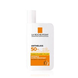 La Roche Posay Anthelios Shaka Fluido SPF50+ S/Perfume 50ml, protetor solar dermatológico de rosto. Textura ultra fluída, resistente e invisível.