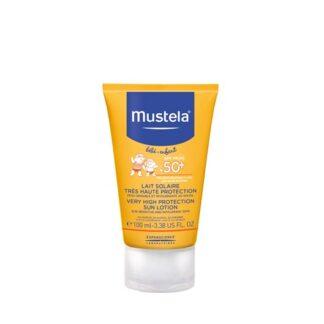 Mustela Leite Solar SPF 50+ 100 ml,adaptado certamente a todos os tipos de pele. Incluindo aliás, as peles atópicas e peles intolerantes e reativas. Com proteção solar muito elevada.