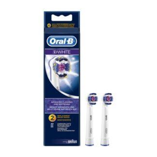 Oral-B 3D White Cabeça para Escova Elétrica 2 Unidades