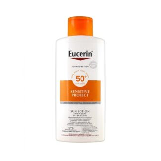 Eucerin Sensitive Loção Solar Extra Light FPS 50+ 400 ml PharmaScalabis