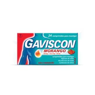 Gaviscon Sabor Morango 24 Comprimidos Mastigaveis