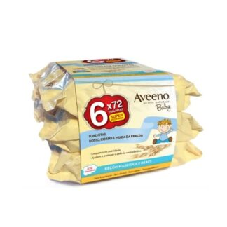 Aveeno Pack Baby Toalhitas 6×72 Toalhitas