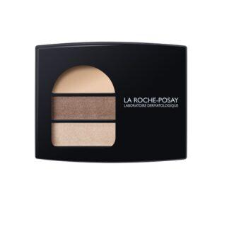 La Roche Posay Respectissime Ombre Douce Paleta 02,uma paleta de sombras para os olhos que combina uma base fixadora suave, para iluminar as pálpebras mais sensíveis e um duo de sombras, para um efeito vibrante adaptado a cada cor de olhos.