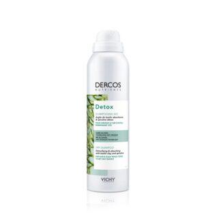 Vichy Dercos Nutrients Champô Seco Detox 150ml Champô seco purificante para cabelos e couro cabeludo que tendem a ficar oleosos rapidamente.
