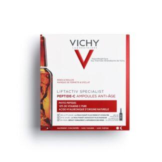 Vichy Liftactiv Liftactiv Specialist Peptide-C Ampolas 30x1,8 ml uma inovação anti-idade para todos os tipos de rugas e falta de luminosidade.