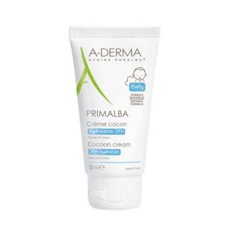 A-Derma Primalba Creme Cocon 50ml, o creme cocon PRIMALBA hidrata intensamente e de forma duradoura, acalma e protege a função de barreira da pele frágil do bebé
