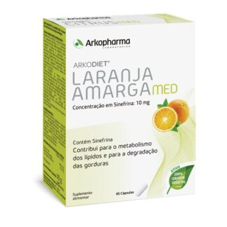 Arkodiet Laranja Amarga é suplemento alimentar à base de extrato de Laranja Amarga, contém Sinefrina.