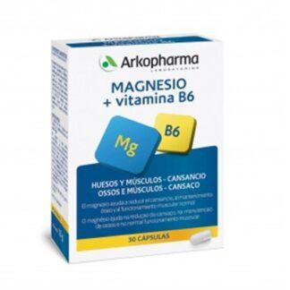 Arkopharma Magnésio + Vitamina B6 30 Cápsulas, o Magnésio e a Vitamina B6 ajudam a diminuir o cansaço e a fadiga.