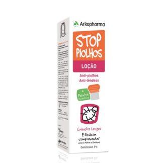 Arkopharma Stop Piolhos Loção Anti-Parasitária Cabelos Longos 100ml c/ Pente, Loção anti-piolhos e anti-lêndeas é um dispositivo médico de aplicação tópica, com uma apresentação em frasco de 100 ml. Contém uma loção transparente composta por 5% de Dimeticone.