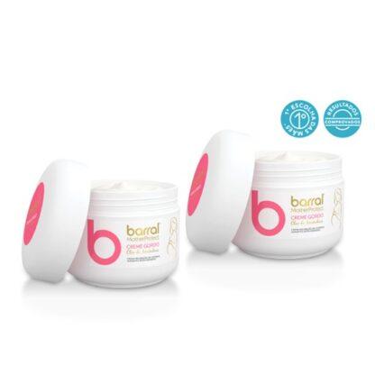 Barral Mother Protect Pack Creme Óleo Amêndoas 2x200ml, prevenção de estrias durante e após a gravidez. Desenvolvido especificamente para a prevenção de estrias durante e após a gravidez.
