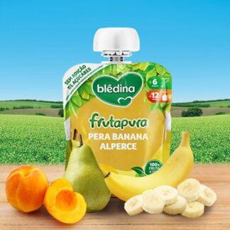 Blédina Frutapura Saqueta Banana Pera Alperce 90gr