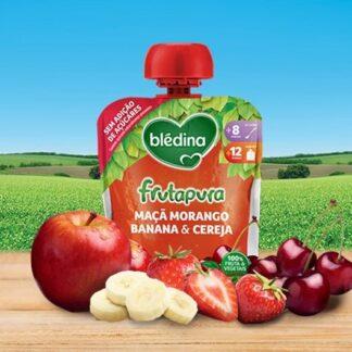 Blédina Frutapura Saqueta Maçã Morango Banana Cereja 90gr