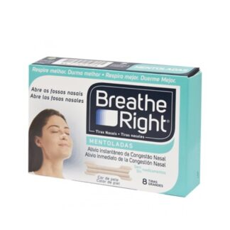 Breathe Right Tiras Nasais Mentoladas 8 Tiras nasais PharmaScalabis