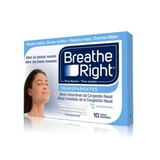 Breathe Right Tiras Nasais Transparentes 10 Tiras