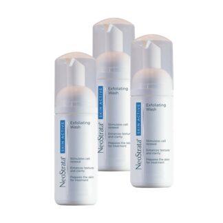 Neostrata Skin Active Pack Limpeza 3x125ml, espuma de limpeza de textura suave para a higiene de todos os tipos de pele. Elimina as impurezas da superfície cutânea, maximiza os resultados da restante gama Skin Active e melhora a textura da pele.