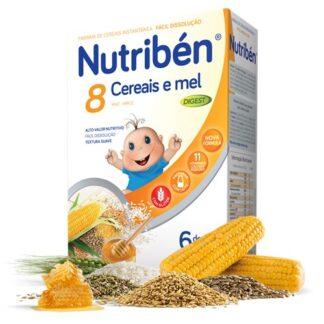Nutribén 8 Cereais e Mel Digest Não Lácteo 300gr