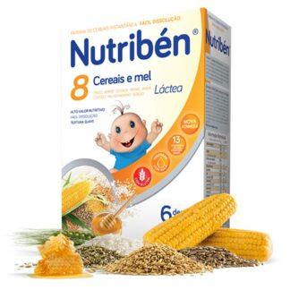 Nutribén 8 Cereais e Mel Láctea 2x300gr