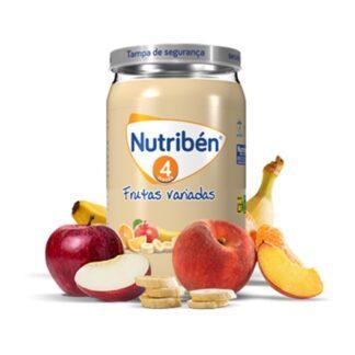Nutribén Boião Frutas Variadas 235gr, uma deliciosa combinação de várias frutas, que vai agradar ao paladar do seu bebé. Enriquecido com vitamina C.